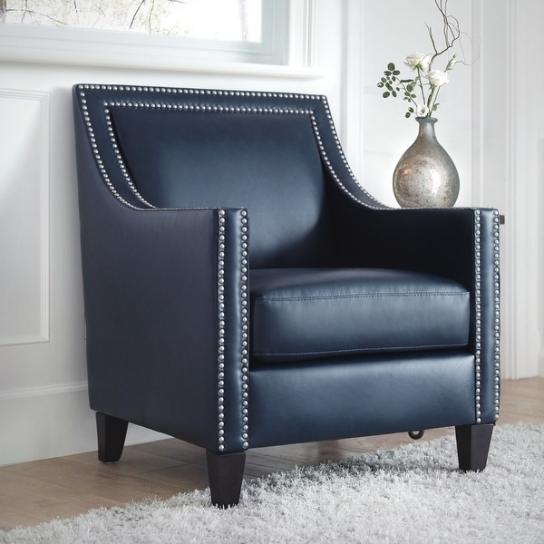 Copper Grove Rab Leather Nailhead Armchair. Opens flyout.
