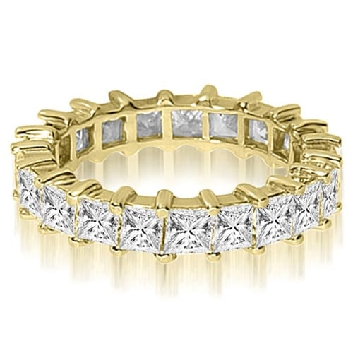 5.00 cttw. 14K Yellow Gold Princess Shared-Prong Diamond Eternity Ring