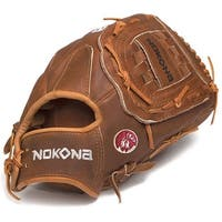 Nokona W-1300/R Walnut 13-inch Baseball Glove with Closed Web for Left Handed Thrower
