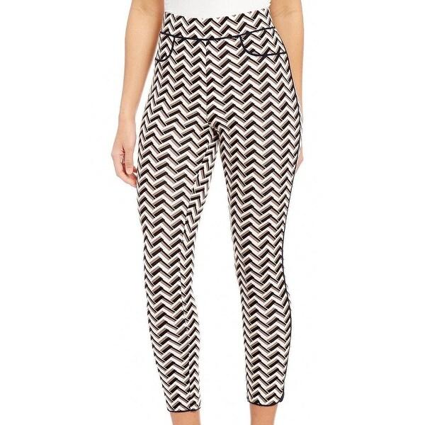 3ded924a1cdf Shop Hue NEW Black Womens Size Small S Chevron High-Waist Pants ...