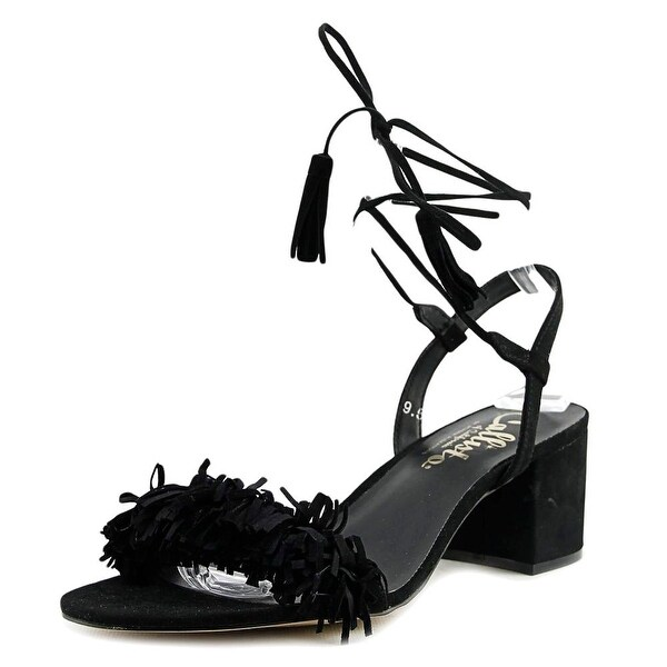 Callisto Melz Women Open Toe Synthetic Black Sandals