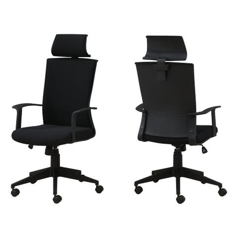 Offex High Back Computer Desk Headrest Swivel Office Chair - Black - Not Available