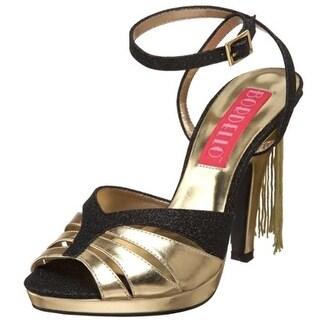 Pleaser Womens Siren Glitter Platform Dress Sandals - 7 medium (b,m)