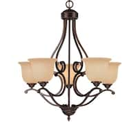 Millennium Lighting 1025 Courtney Lakes 5 Light Single Tier Chandelier - Rubbed bronze