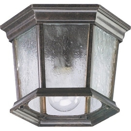 Quorum International Q7930-1 1 Light Flushmount Outdoor Ceiling Fixture with Clear Water Shade