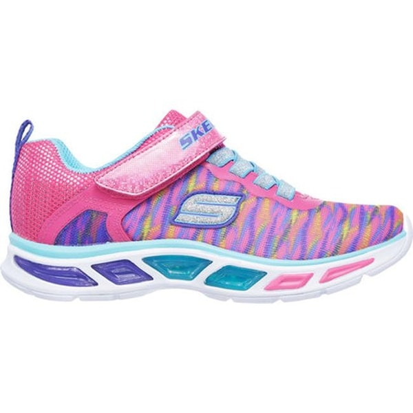 SKECHERS Girls/' S Lights Litebeams Colorburst Shoes Size 2 NEW