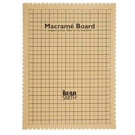 BeadSmith Large Macrame Board For Braiding 14x10 Inches