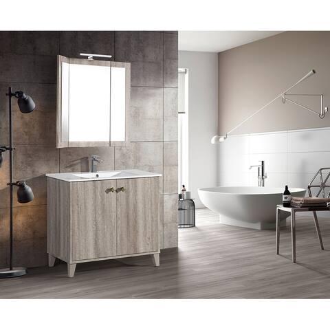 "Swiss Madison Eclair 36"" Single, Two Doors, Bathroom Vanity"