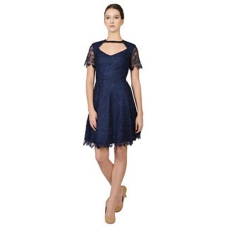A.B.S. Chandelier Lace Dress Blue - 6