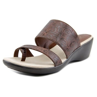 Kim Rogers Patrice Open Toe Synthetic Wedge Sandal