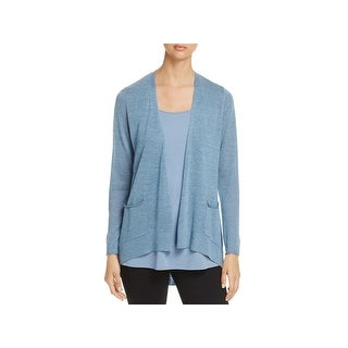 Eileen Fisher Womens Petites Cardigan Sweater Tencel Slouchy