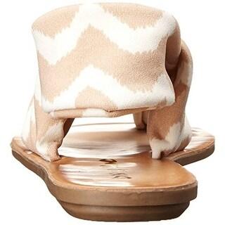 Dirty Laundry Womens Bright Spot Printed Slingback Flat Sandals