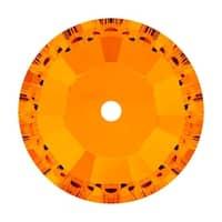 Swarovski Elements Crystal, 3128 Round Sew-On Stones Center Hole 4mm, 50 Pieces, Tangerine F