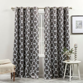Link to The Curated Nomad Duane Thermal Woven Blackout Grommet Top Curtain Panel Pair Similar Items in Blackout Curtains