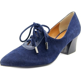 J. Renee Ellam Women Pointed Toe Suede Blue Heels