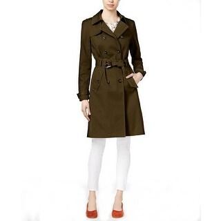 Maison Jules Belted Trench Coat Jacket Dusty Olive - XL