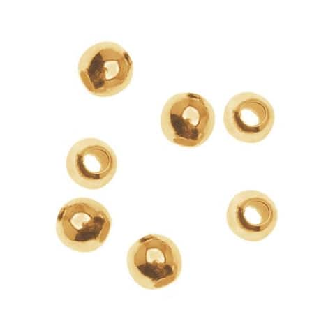 14K Gold Filled Seamless Round Beads 3mm (10)