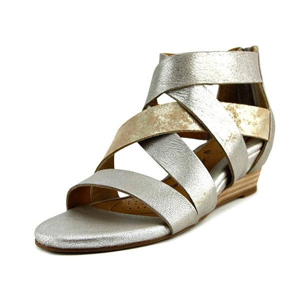 Sofft Rosaria Open Toe Leather Wedge Sandal
