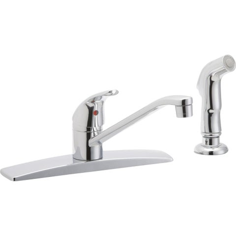 Elkay LK2478 Everyday 1.5 GPM Deck Mounted Kitchen Faucet with Side Spray - CHROME