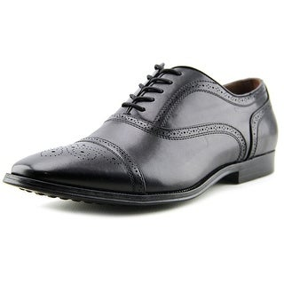 Giorgio Brutini Baylor Men Cap Toe Leather Black Oxford