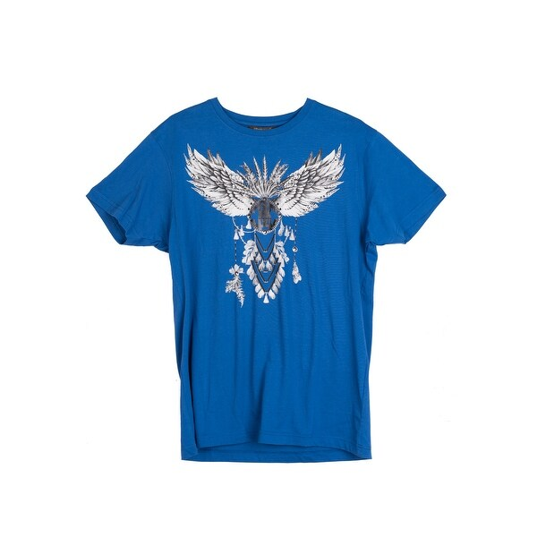 4c628d9cd32 Shop Roberto Cavalli Mens Blue Cotton Logo Wing Graphic T Shirt Size  2XL~RTL$350 - XL - Free Shipping Today - Overstock - 28336747
