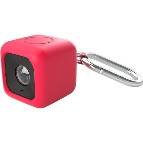 Polaroid Bumper Pendent Case (Red) for the Polaroid CUBE HD Action Lifestyle Cam
