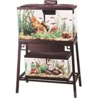 AQUEON PRODUCTS - GLASS-36624 Forge Aquarium Stand  Black & Brown