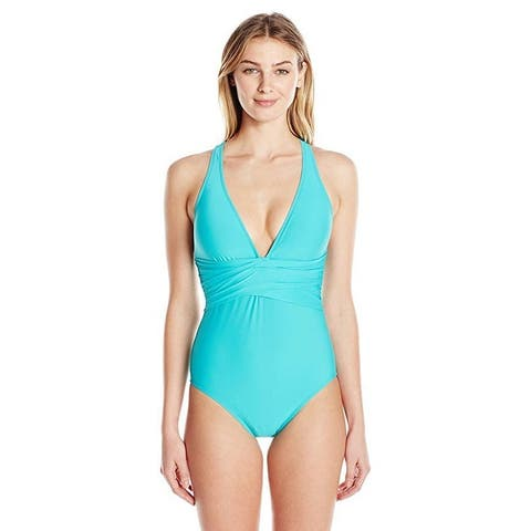 Athena Cabana Solids Alana One Piece Sz: XL