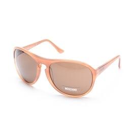 Moschino Women's Oversized Round Frame Sunglasses Brown - Small