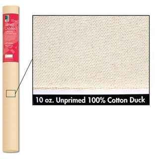 "Art Alternatives - Unprimed 8 oz. Heavy Cotton Canvas Roll - 62"" x 6 yds."