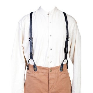 Scully Western Mens Suspenders Leather Mustache Attachments 540775 - One size (Option: Black)