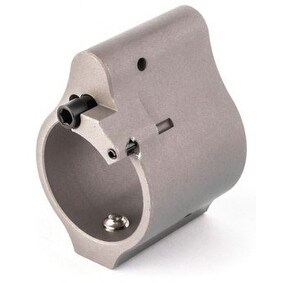 """Superlative ARMS .875"""" Adjustable Gas Block, Bleed Off Solid - Silver/Stainless Steel"""