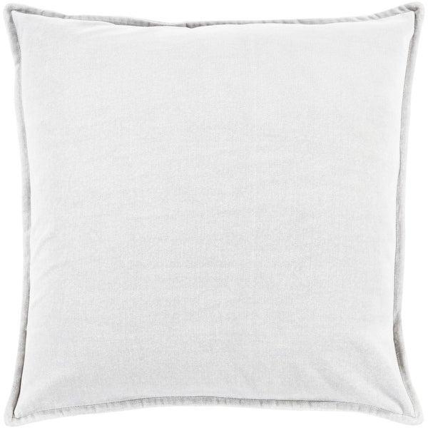 "20"" Solid Light Haze Gray Contemporary Woven Decorative Throw Pillow –Down Filler"