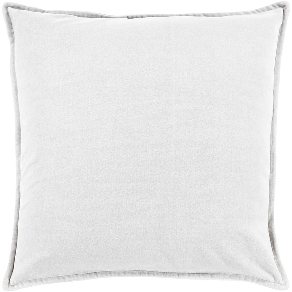 "20"" Solid Light Haze Gray Contemporary Woven Decorative Throw Pillow"