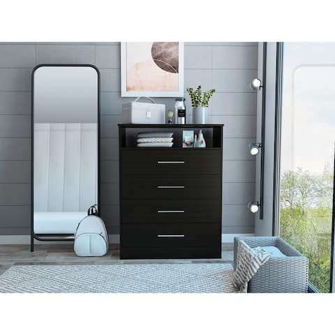 TUHOME Continental Four drawer Dresser
