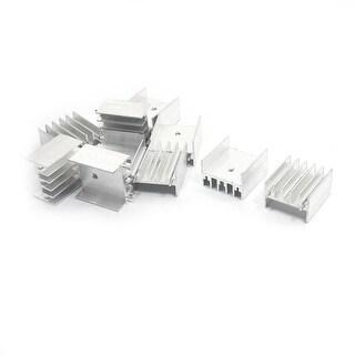 Unique Bargains 10Pcs Dual Needle Aluminum Heat Diffuse Heatsink Cooler Fin 25mmx23mmx16mm