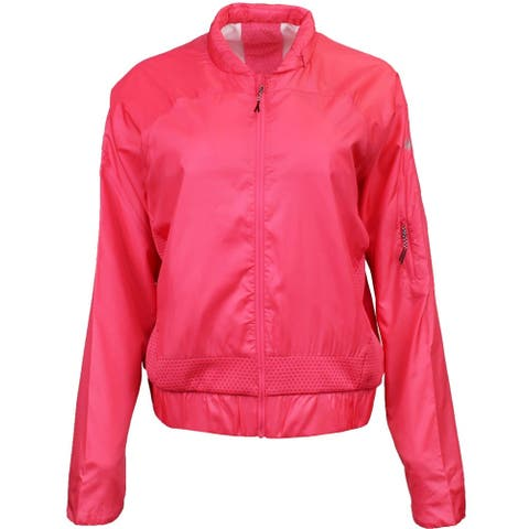 ASICS Tech Jacket Womens Athletic Jacket Lightweight - Red