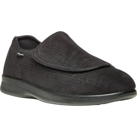 Propet Men's Cush N Foot Black Corduroy/Neoprene