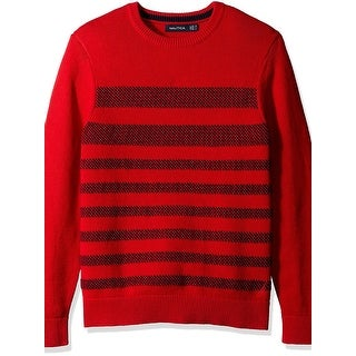 Nautica Mens Pullover Sweater Striped Long Sleeves - S