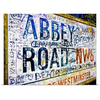Poster Print entitled Abbey Road road sign, London