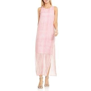 Vince Camuto Womens Maxi Dress Printed Chiffon