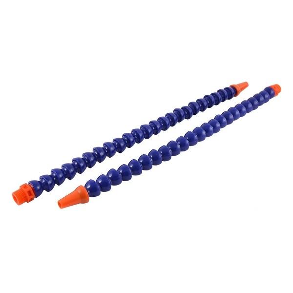 Unique Bargains Round Nozzle 1/2BSP Male Thread Flexible Oil Coolant Pipe Hose Tube 50cm 2pcs