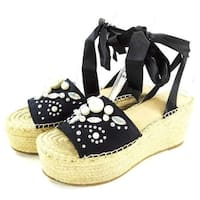 G by Guess Womens Razzle Satin Open Toe Casual Platform Sandals