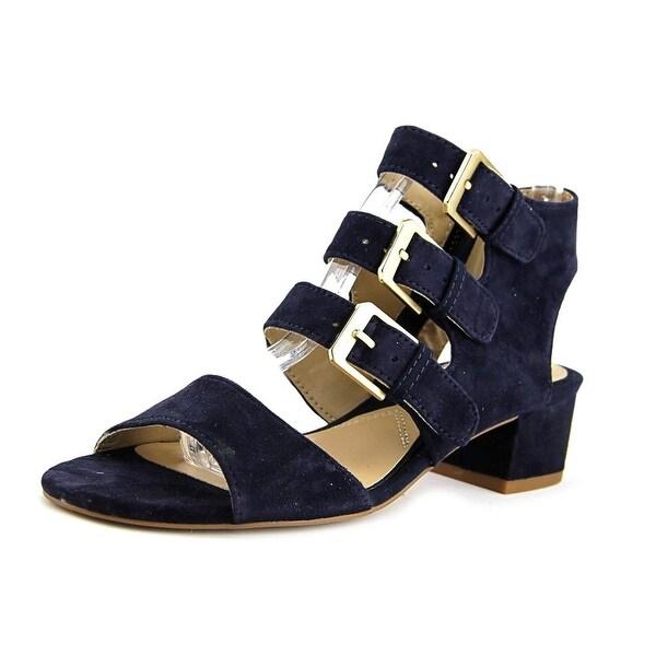 244f16d14bd Shop Adrienne Vittadini Laira Women Blue Sandals - Free Shipping On ...
