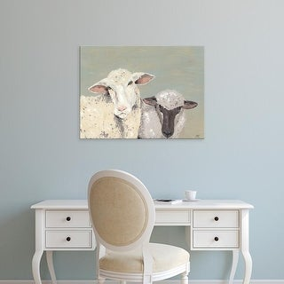 Easy Art Prints Jade Reynolds's 'Sweet Lambs I' Premium Canvas Art