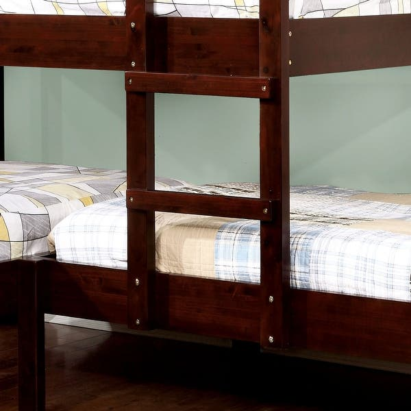 Furniture Of America Zend Contemporary Brown Twin 3 Piece Bunk Bed Set On Sale Overstock 11502375