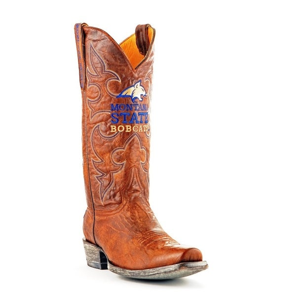 Gameday Boots Mens College Team Montana State Bobcats Brass