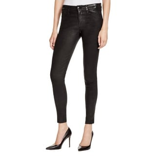 Joe's Jeans Womens Leather Pants Distressed Ankle
