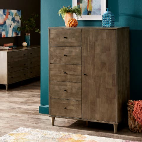 Carson Carrington I Love Living Mallory Light Charcoal Grey Armoire