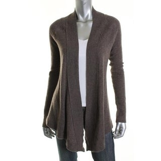 Aqua Womens Cashmere Long Sleeves Cardigan Sweater - XS